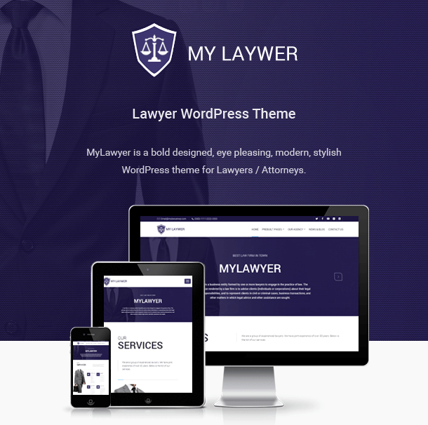 MyLawyer - Lawyer Attorney WordPress Theme