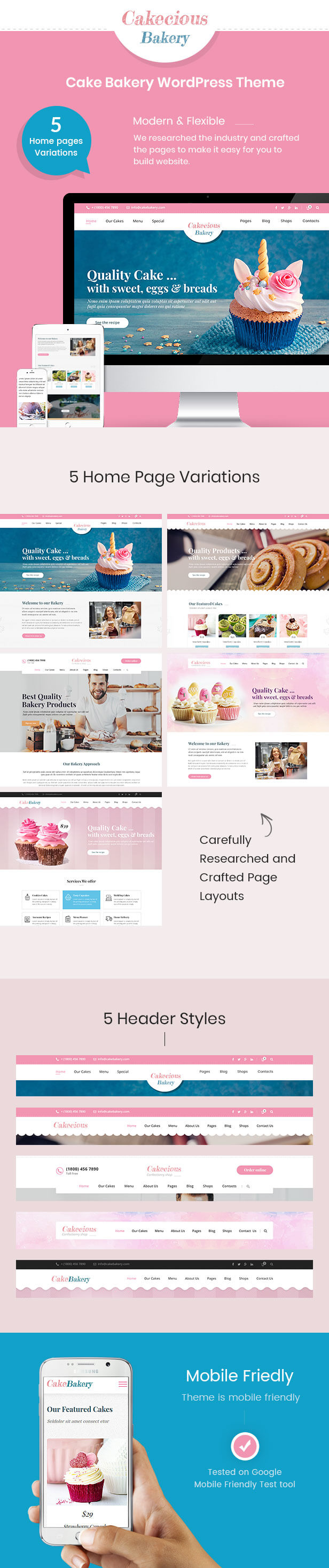 Cakecious - Cake Bakery Food WordPress Theme - 3