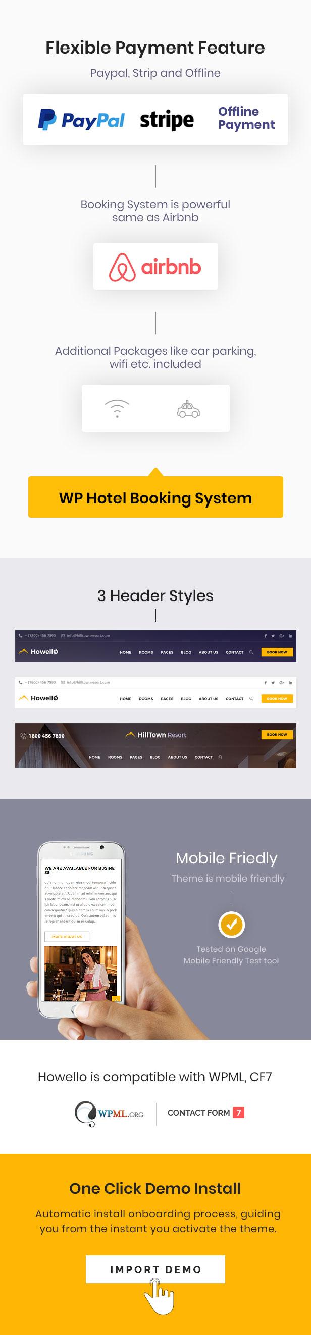 Howello : Hotel and Resort WordPress Theme - 4