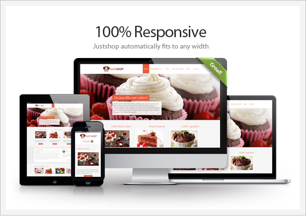 responsive cakes pastries woocommerce