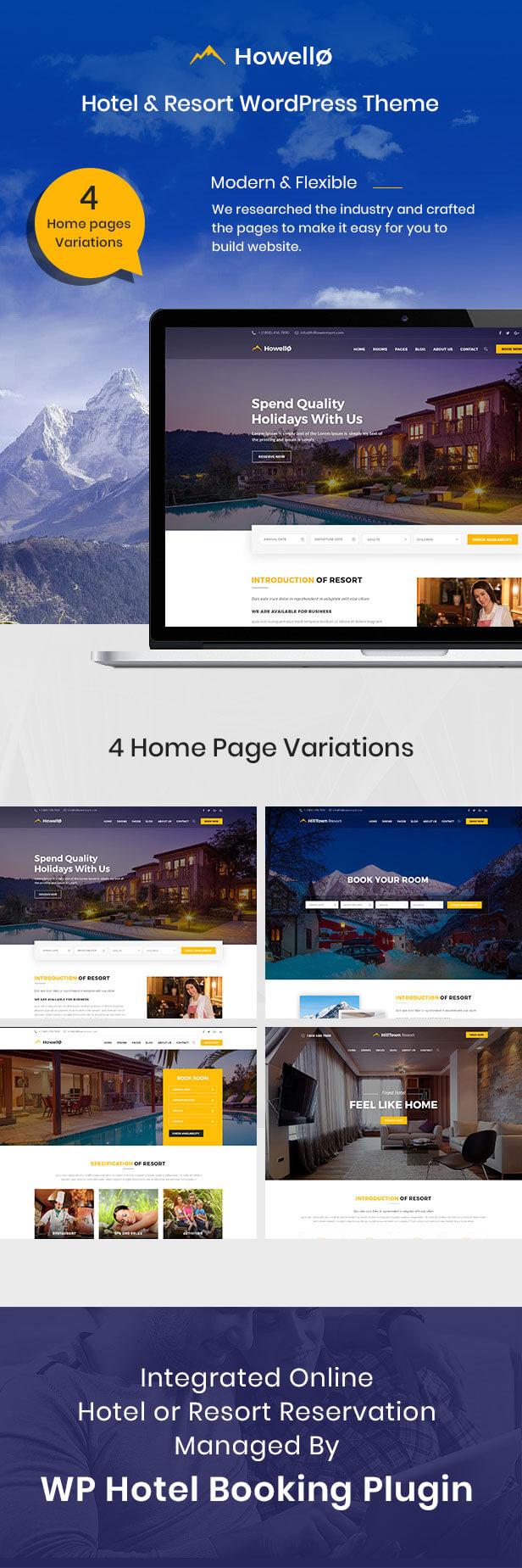 Howello : Hotel and Resort WordPress Theme - 3