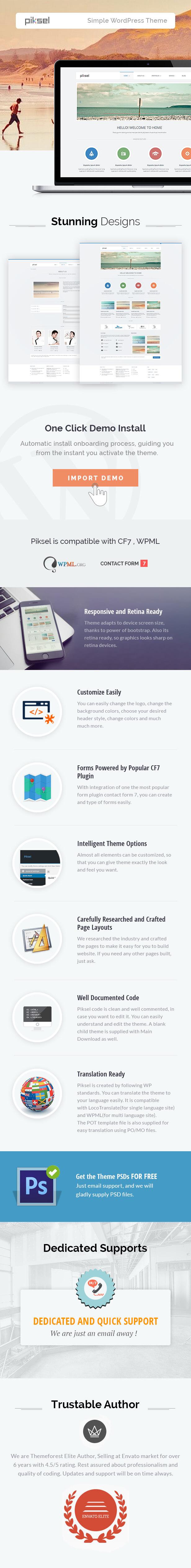 piksel-description Piksel -  Creative and Portfolio WordPress Theme theme WordPress